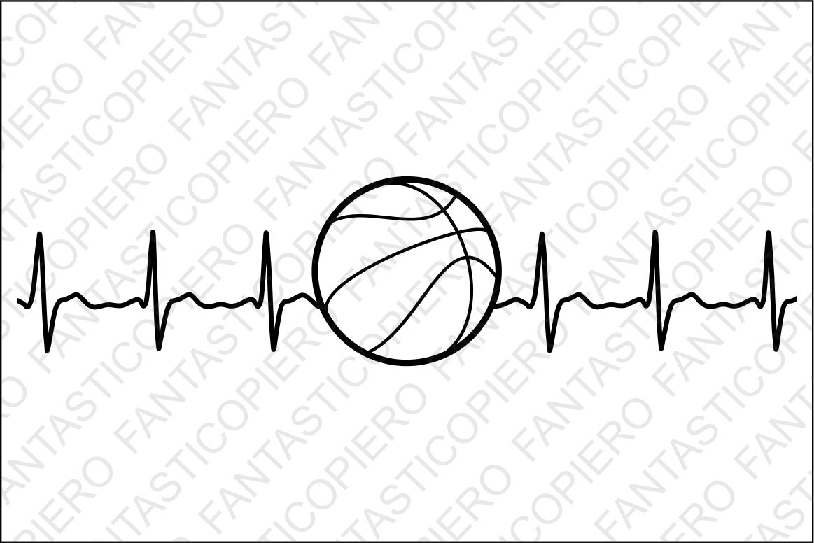 Cardio Basketball Svg Files For Silhouette Cameo And