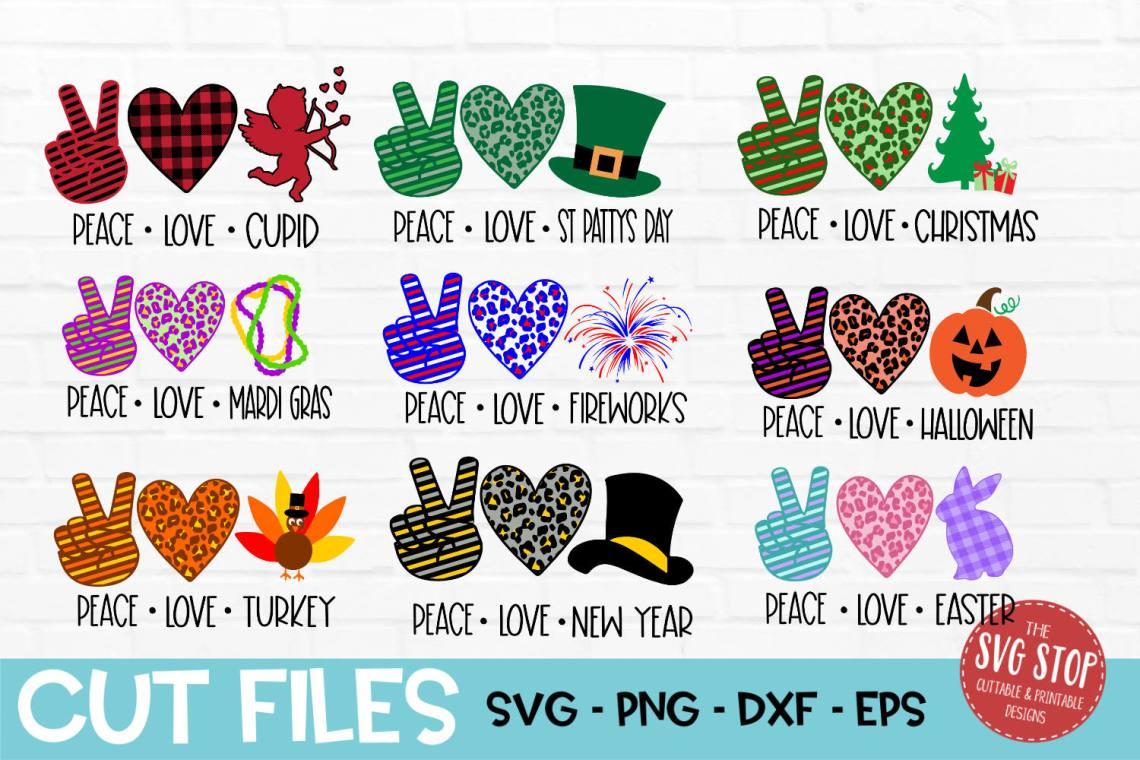 Download Peace Love Bundle SVG, PNG, DXF, EPS