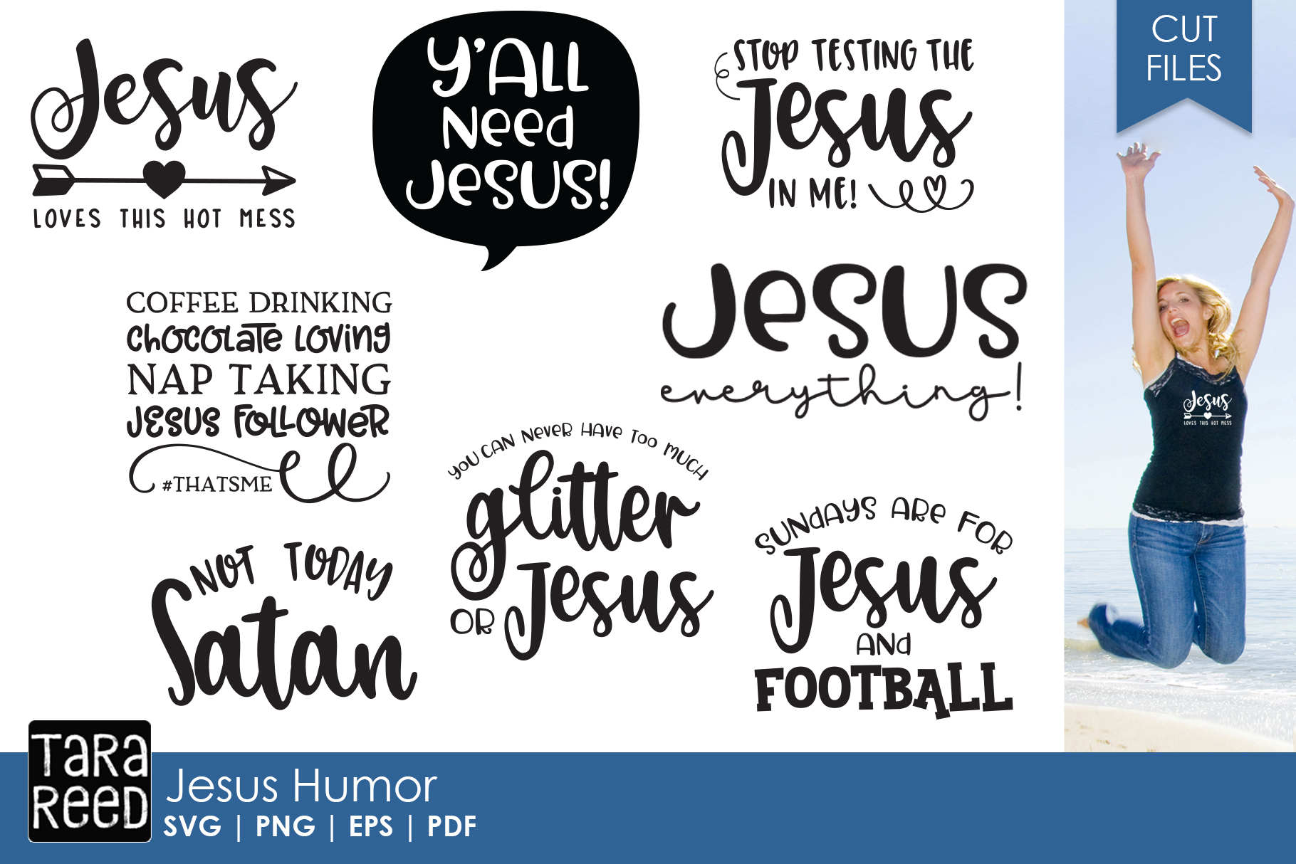 All I Need Is Coffee And Jesus Ladies Christian Funny Humor