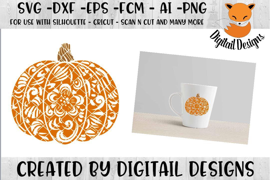Download Zentangle Pumpkin SVG for Silhouette, Cricut, Scan N Cut