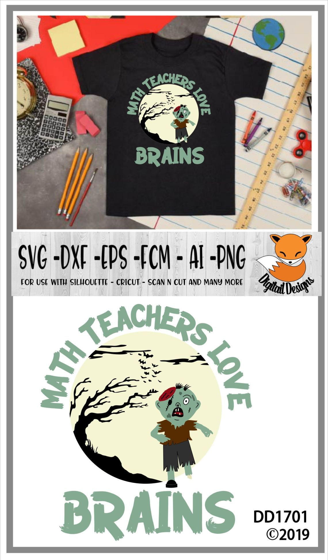 Download Math Teachers Love Brains Halloween SVG (363067) | Cut ...