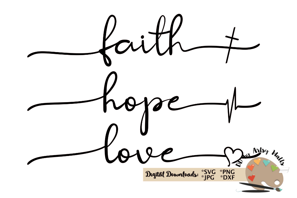 Download faith hope love svg Christian faith silhouette cricut file ...