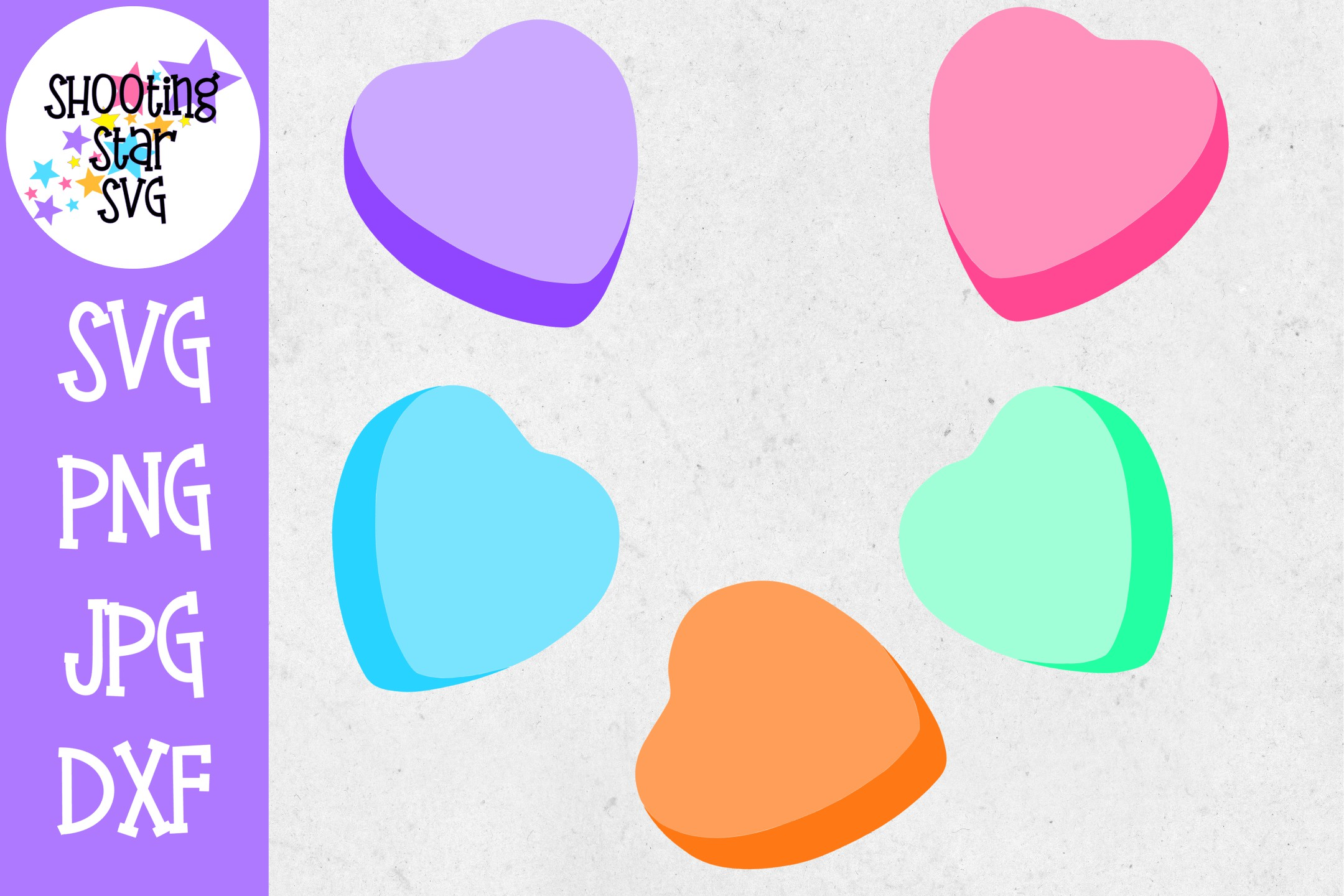 Blank Candy Hearts Valentine S Day Svg