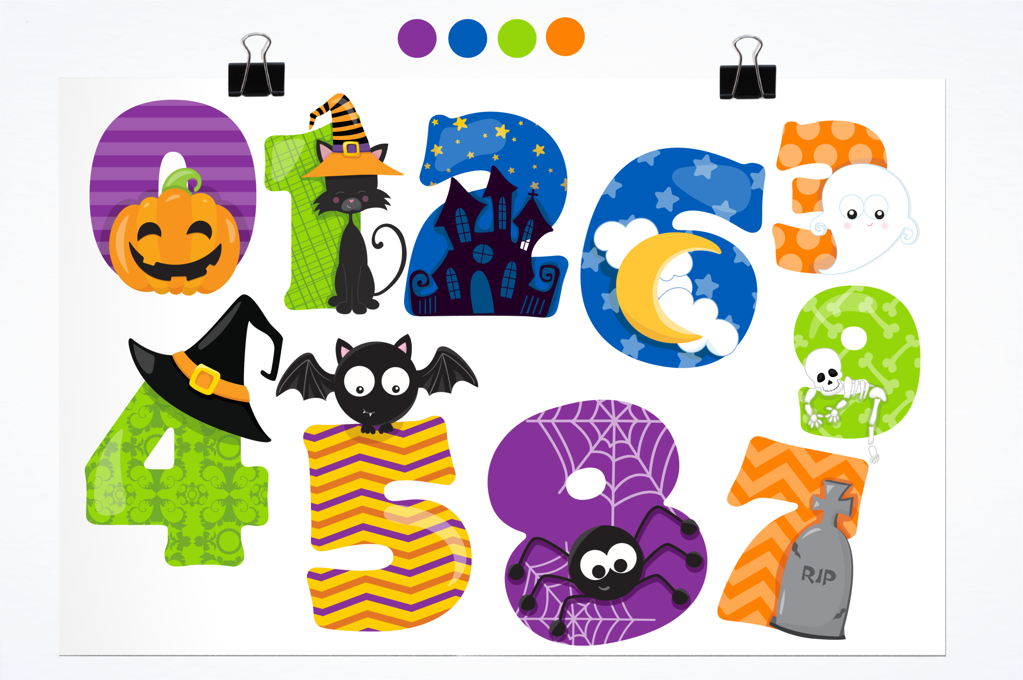 Halloween Numbers Graphics And Illustrations