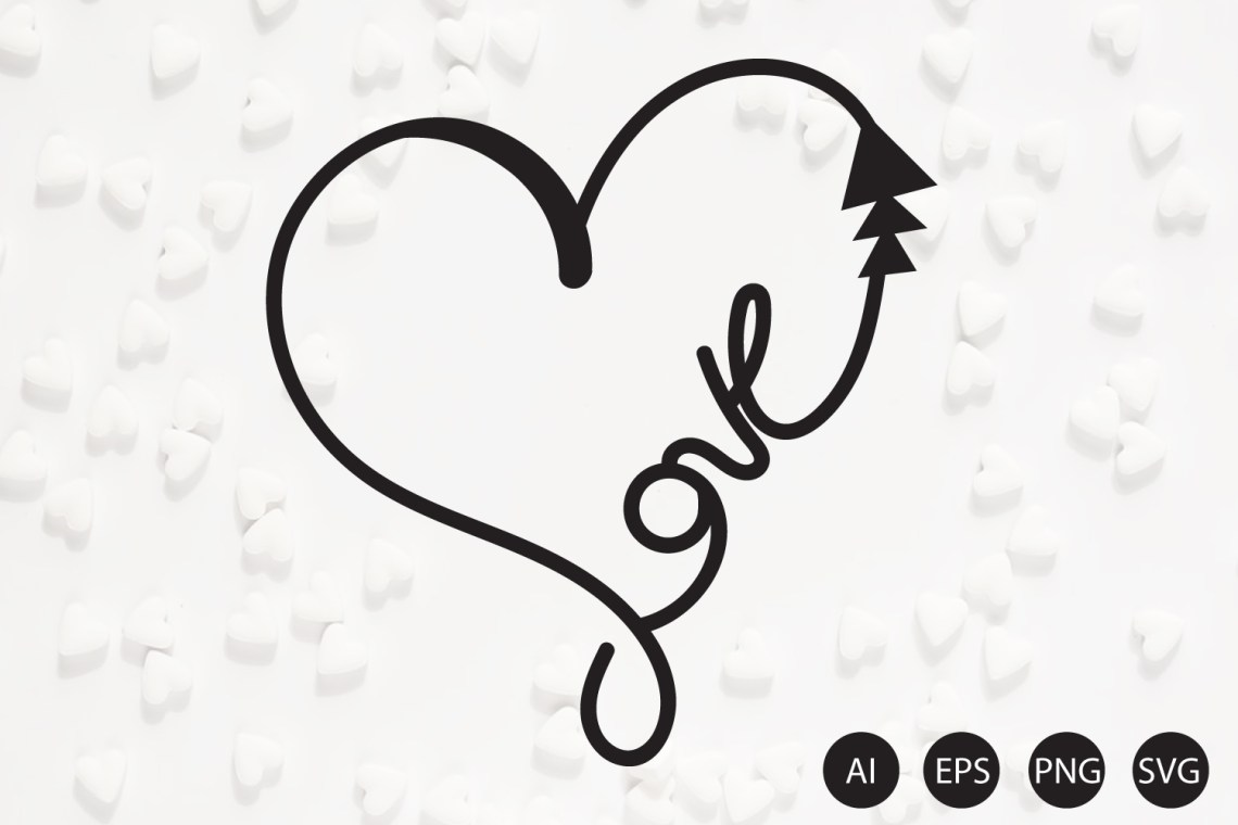 Download Love Text in Heart Shape Vector Ai, Eps, Svg