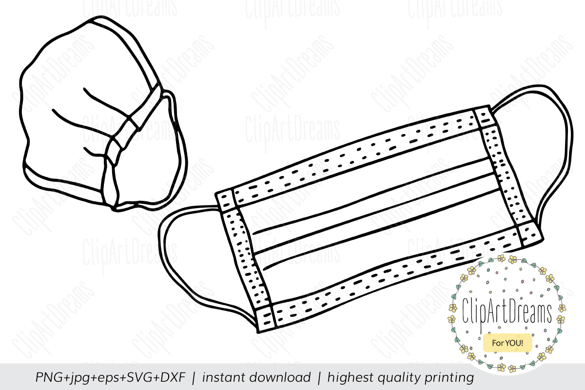 Face Mask Svg Medical Nursing Surgical Cut Files Outline