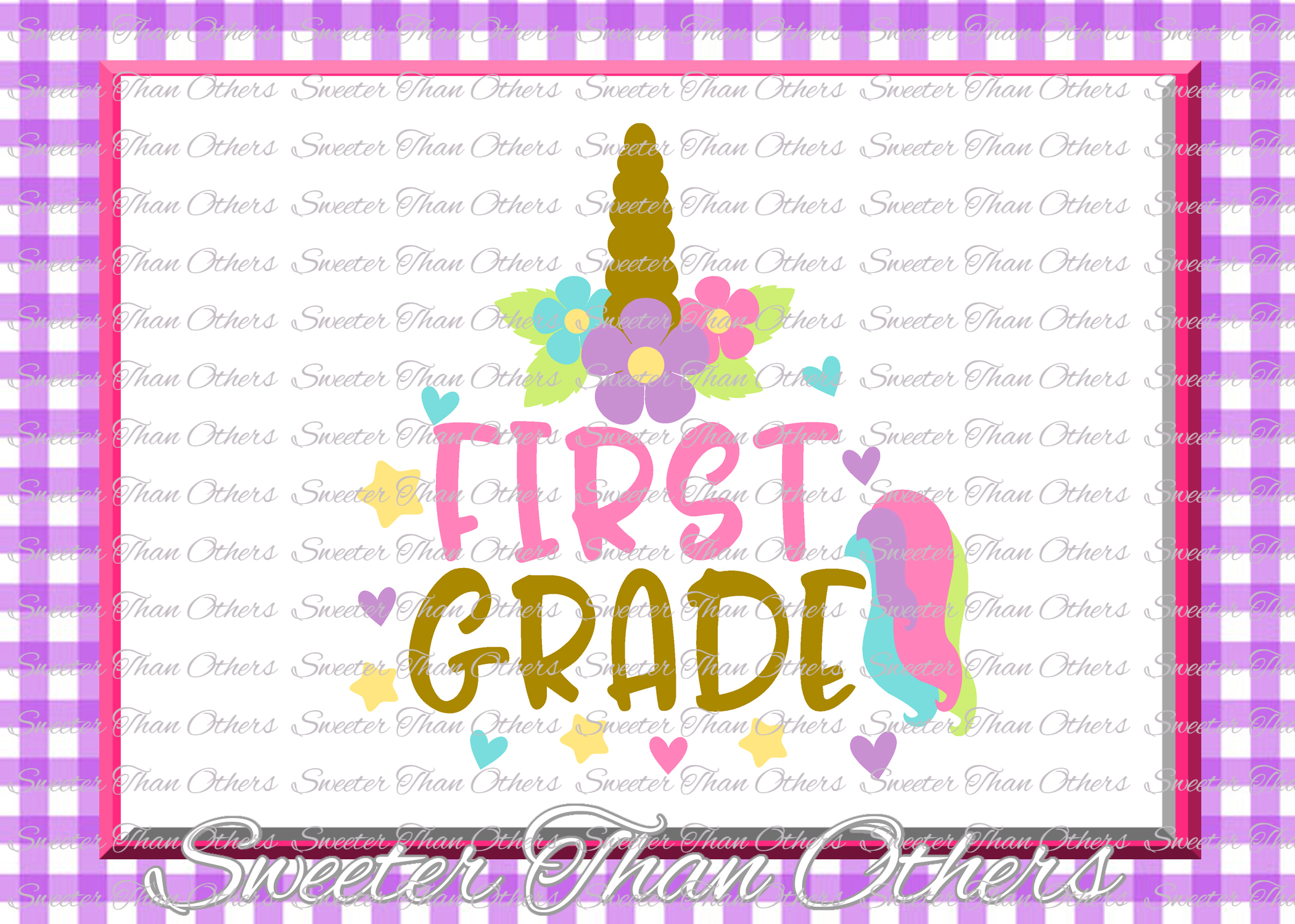 Unicorn School Svg Bundle Kindergarten First Day Of School S