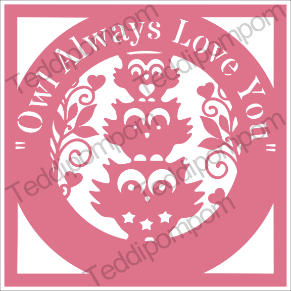 Download Owl Always Love You - Owl papercut SVG PNG