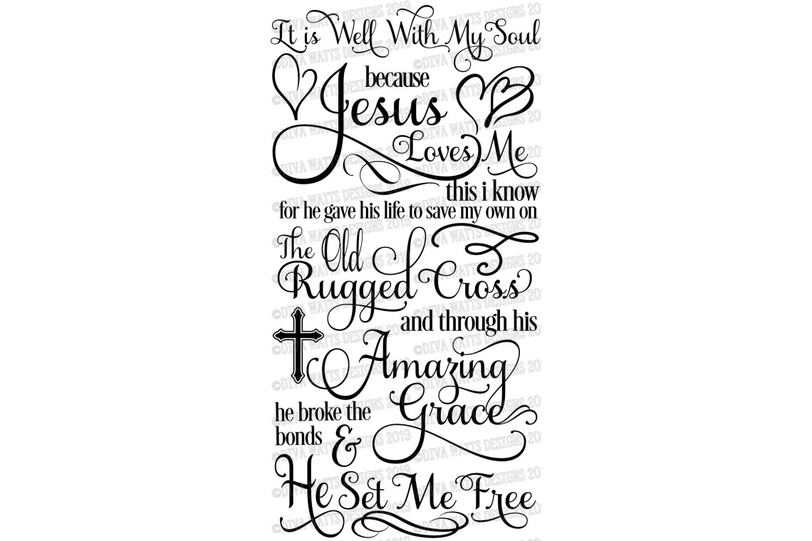 Download It Is Well With My Soul - Christian Hymn Poetry - SVG EPS