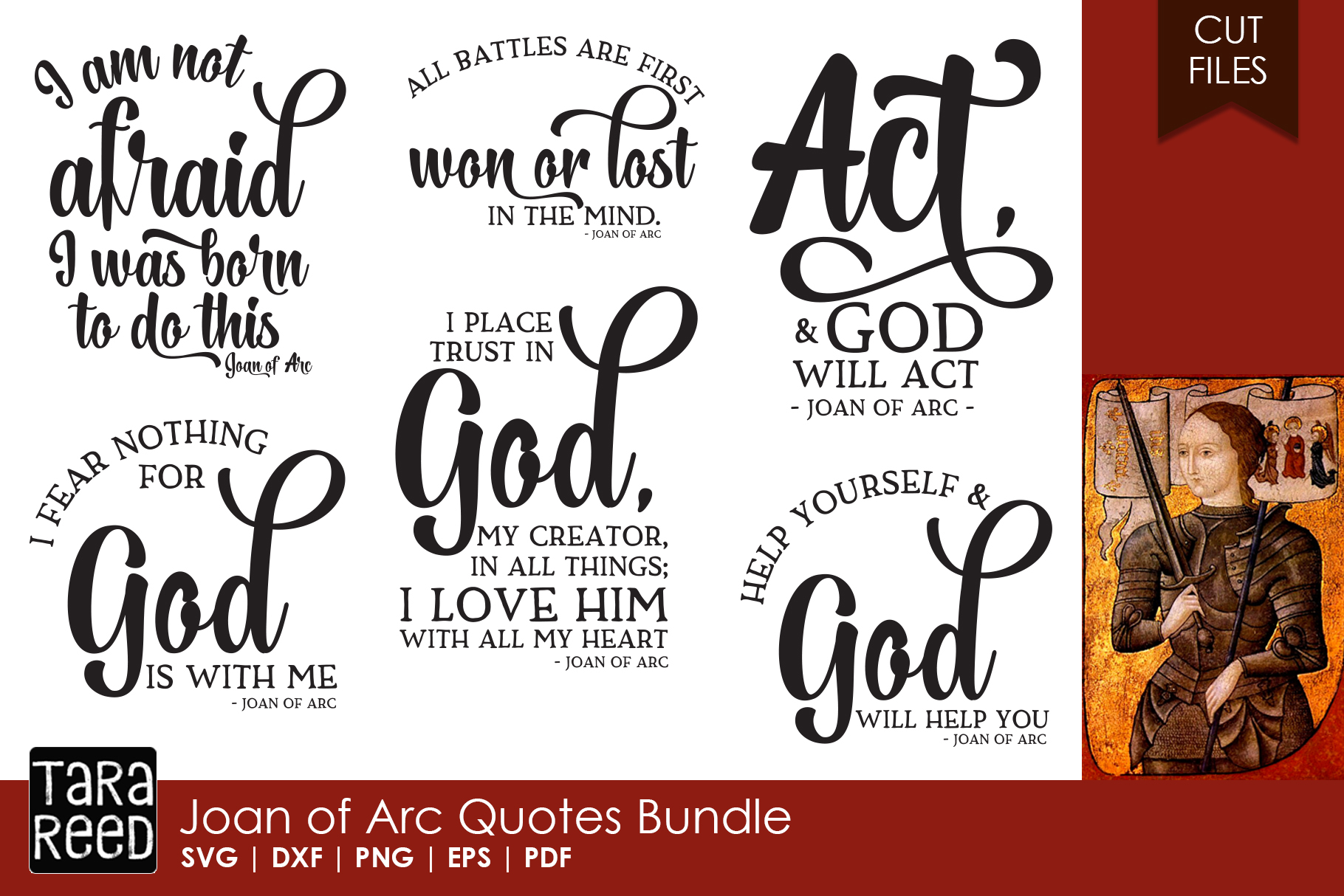 Joan Of Arc Quotes Bundle