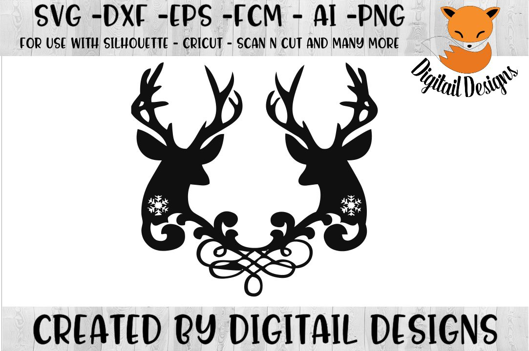 Download Snowflake Reindeer SVG for Silhouette, Cricut