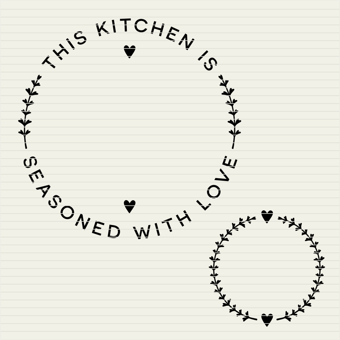 Download Kitchen Seasoned with Love   Personalize SVG monogram ...