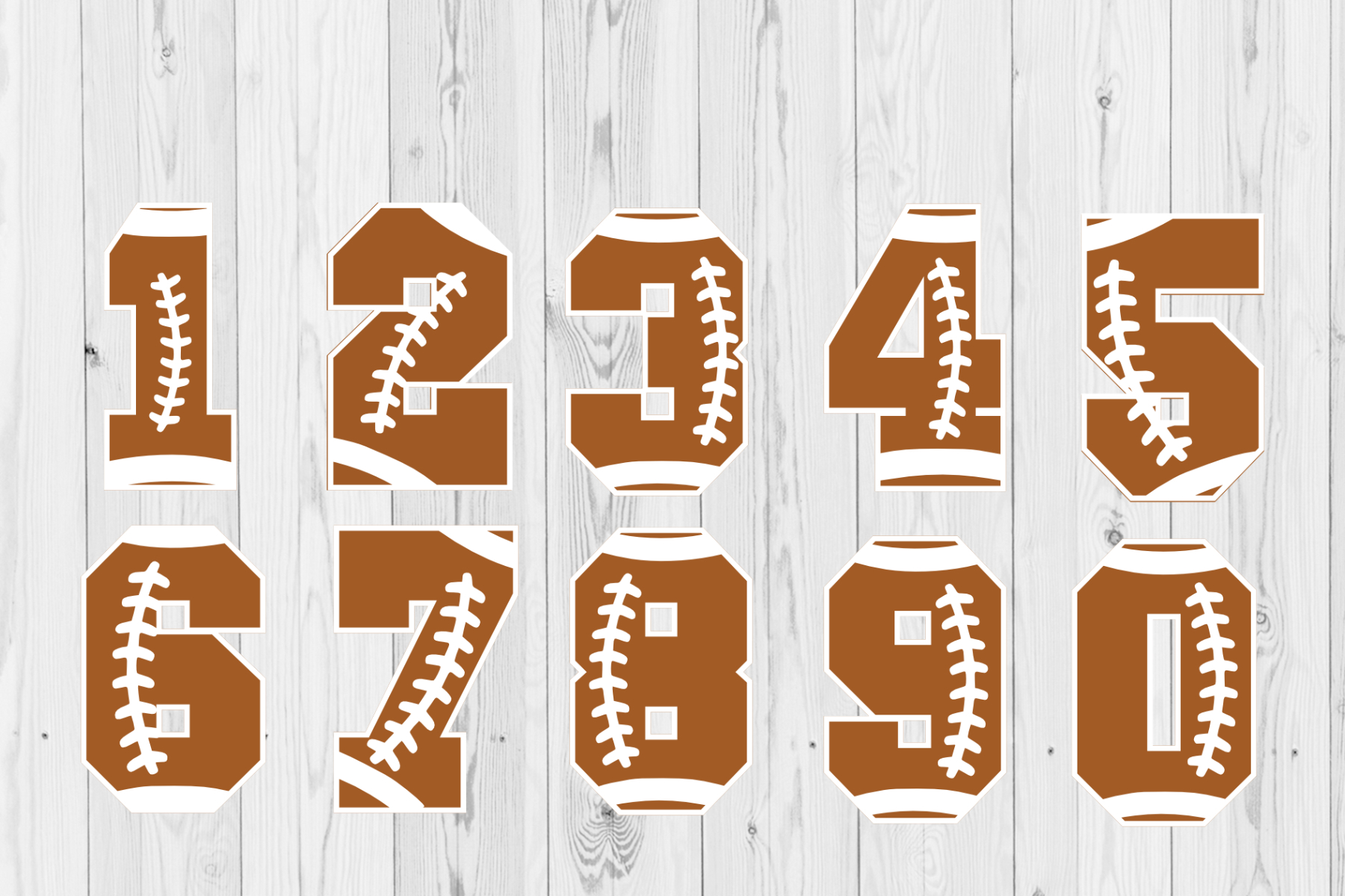 Football Number 0 To 9 American Football Svg Bundle