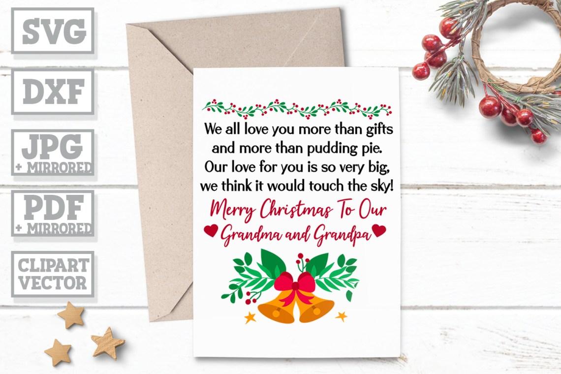 Download Christmas Wish For Grandparents - Grandpa Grandma Gift SVG