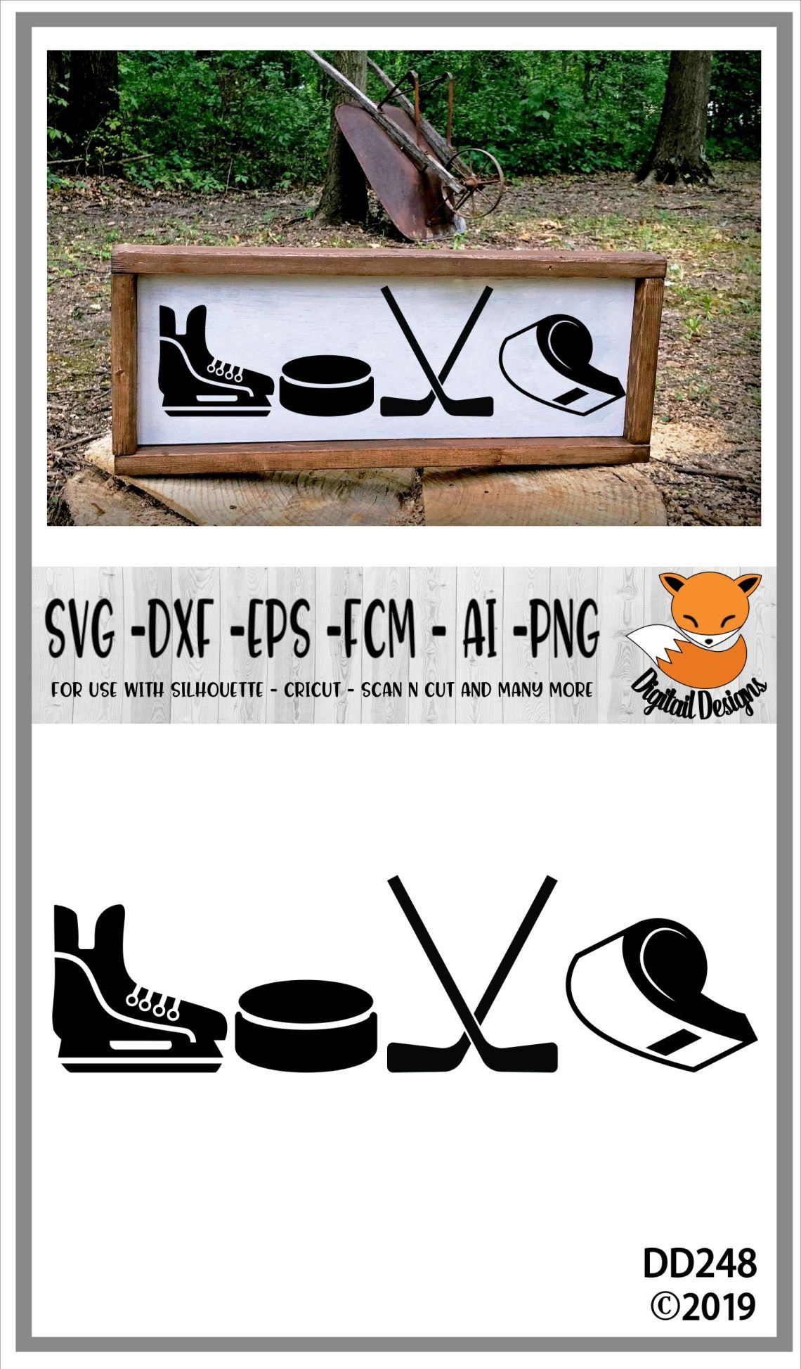 Download Hockey Love SVG (96464) | Cut Files | Design Bundles