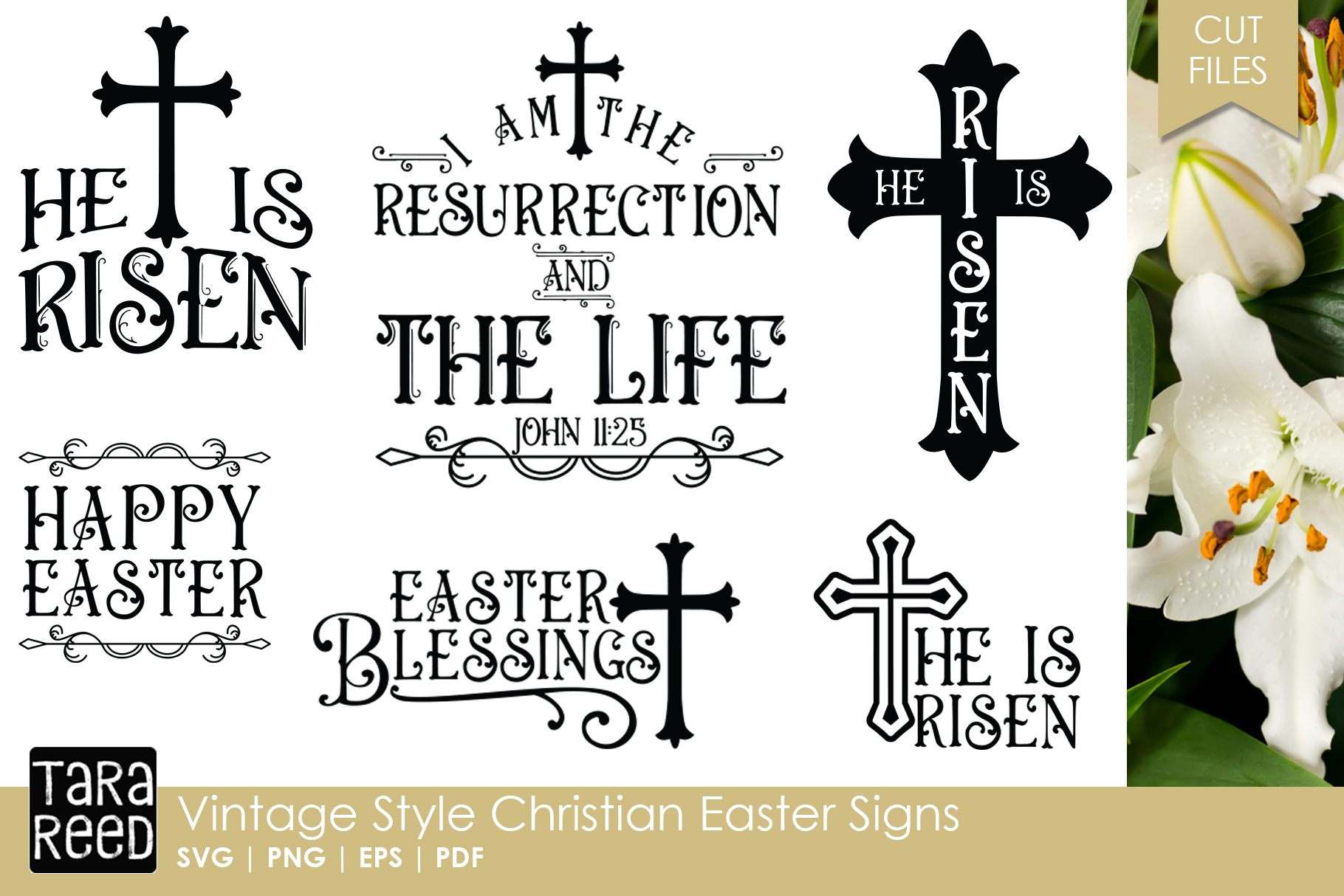 Vintage Christian Easter Signs Easter Svg Cut Files
