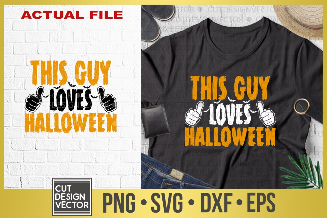 Download This Guy Loves Halloween SVG
