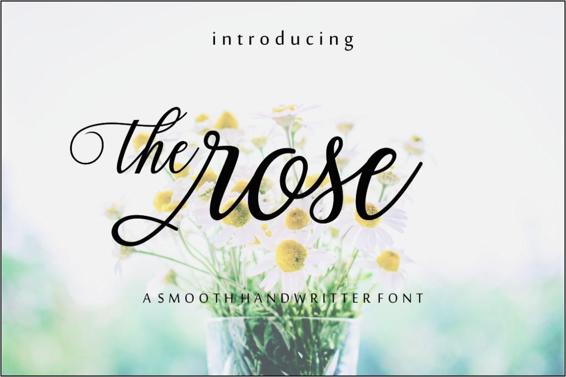 Download The rose script (184372) | Script | Font Bundles