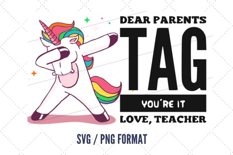 Download Unicorn svg, last day of school clip art, Dear parents tag ...