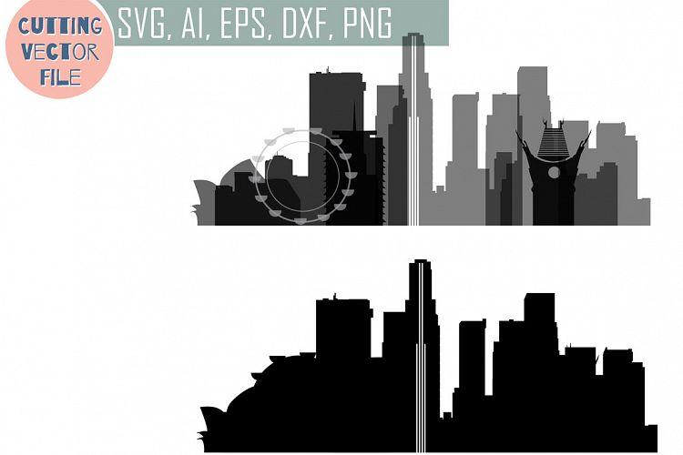 Download Los Angeles Vector, California Skyline USA city, SVG, JPG ...