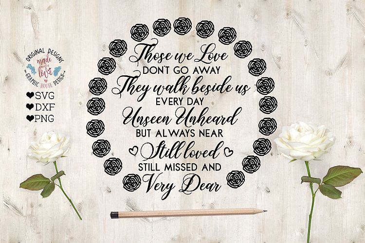 Download Those We Love Don't Go Away Mourning Cut File (121367 ...