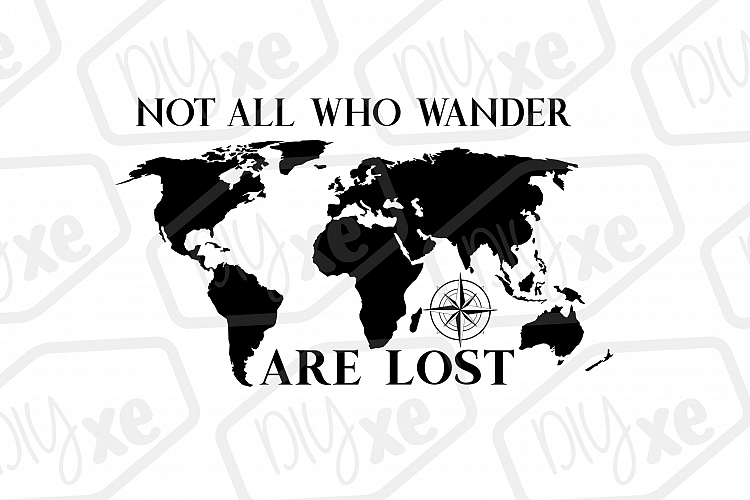 Download Not All Who Wander Are Lost Map SVG/DXF/PNG/EPS