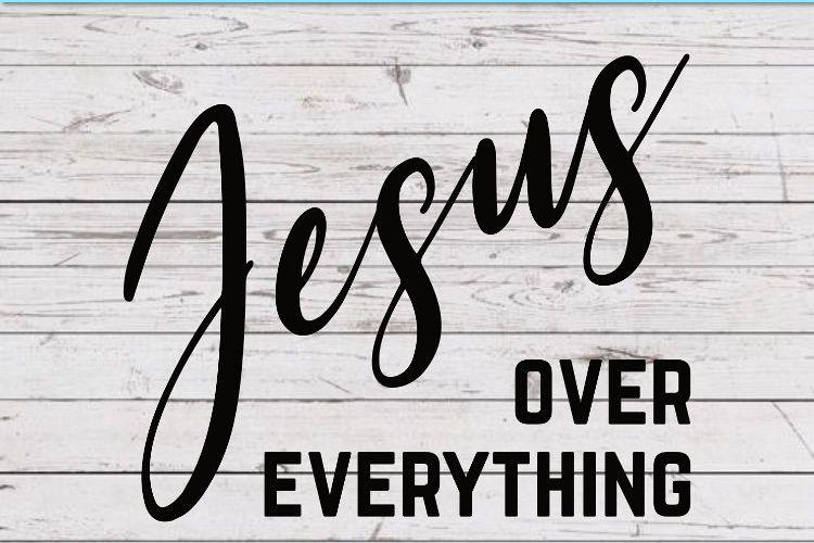 Download SVG, PNG, DXF, EPS, Jesus over everything svg, christian ...