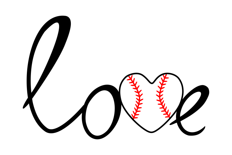 Download Baseball love svg