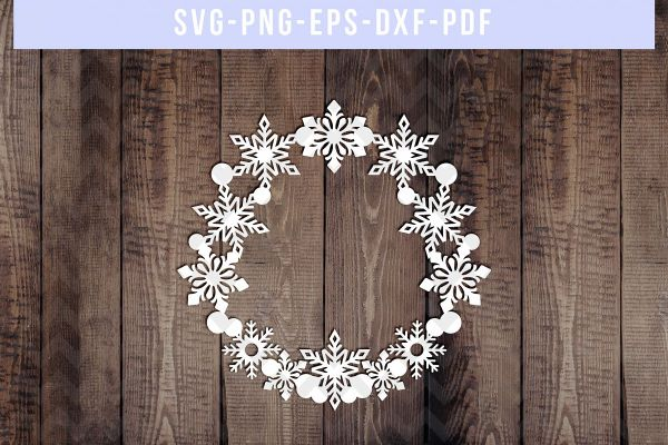 wreath template free svg # 13