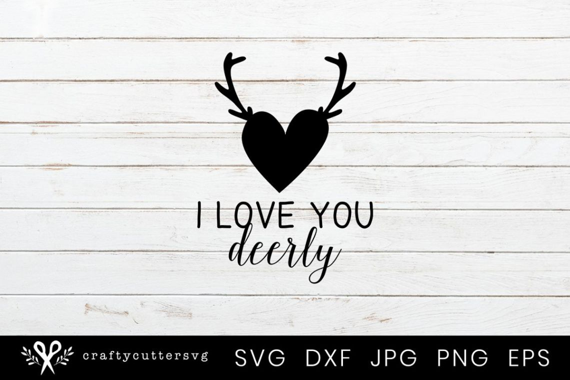 Download I love you deerly Svg Valentine's Day Clipart