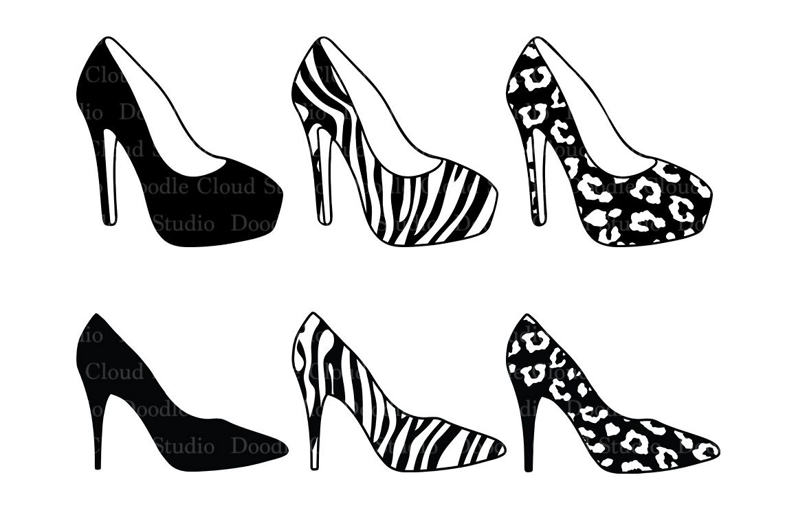 Women S High Heel Shoes Svg Files For Silhouette Cameo And
