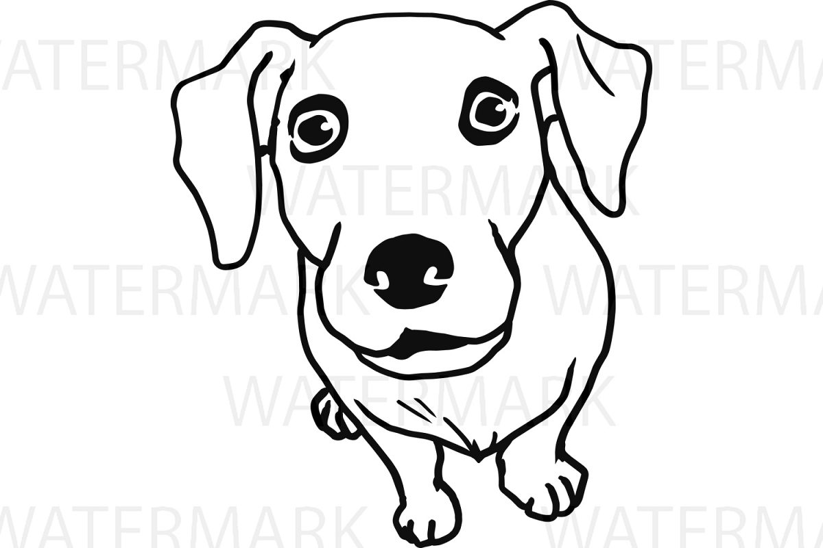 Cute Dogs D Outline