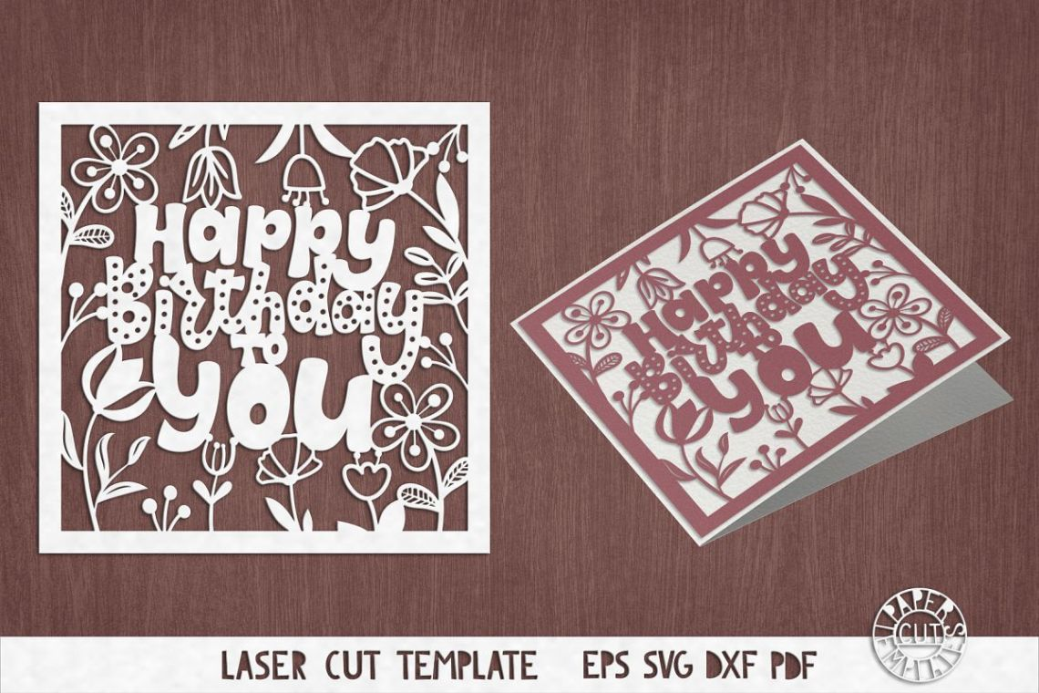Download SVG Birthday card cut file for Cricut, Silhouette Cameo ...