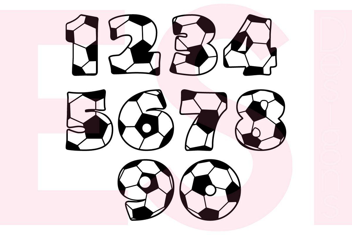Soccer Football Numbers Design Set