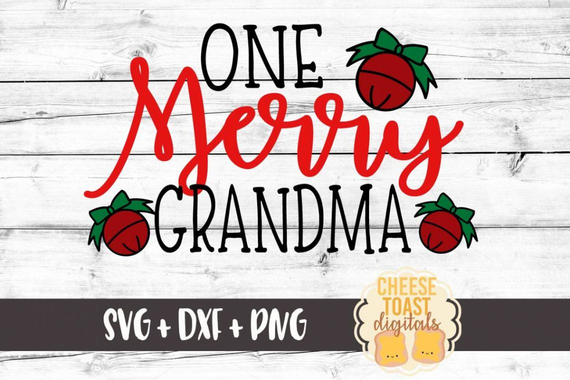 Download One Merry Grandma - Christmas SVG File (123058) | SVGs ...