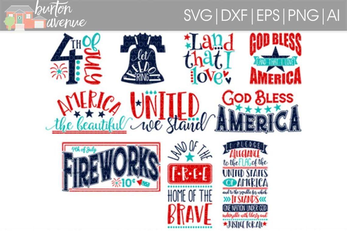Download Patriotic SVG Bundle-cut files for Cricut, Silhouette