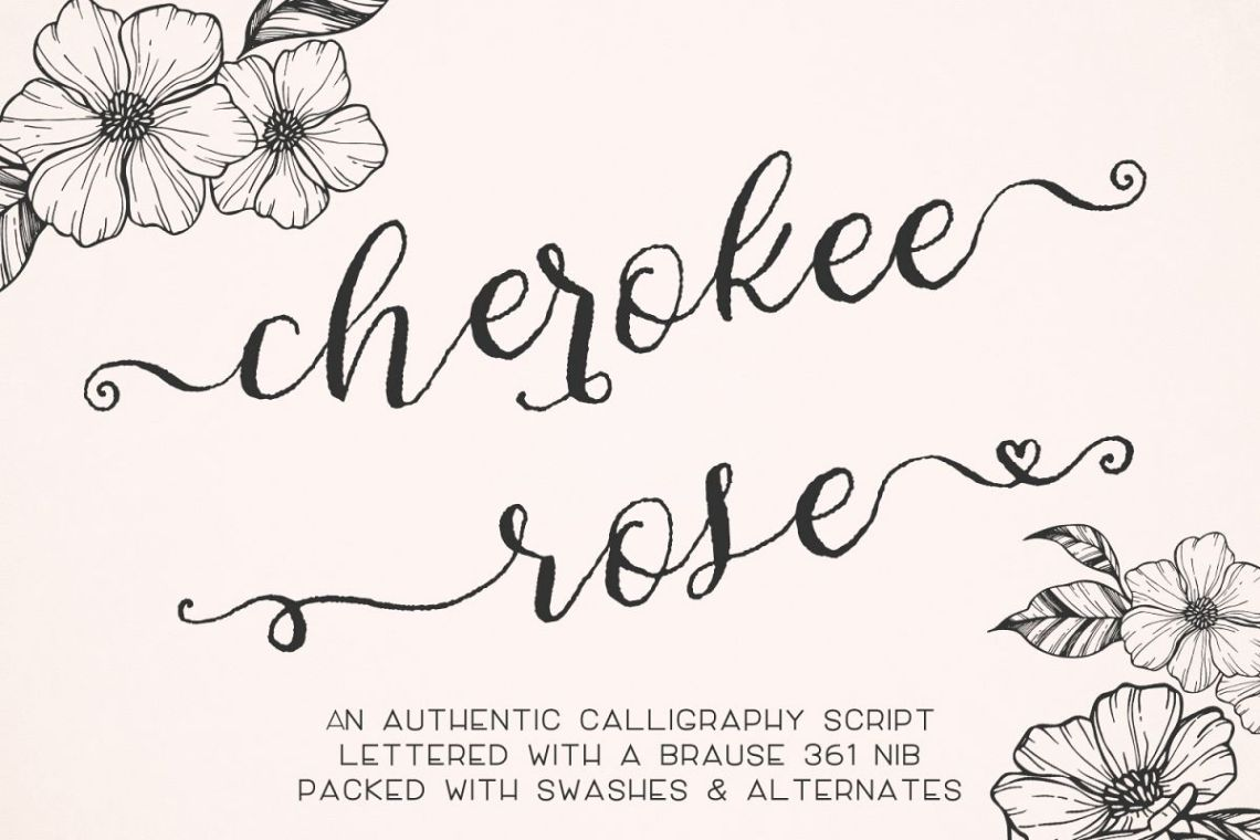 Download Cherokee Rose Calligraphy Script (32552) | Script | Font ...