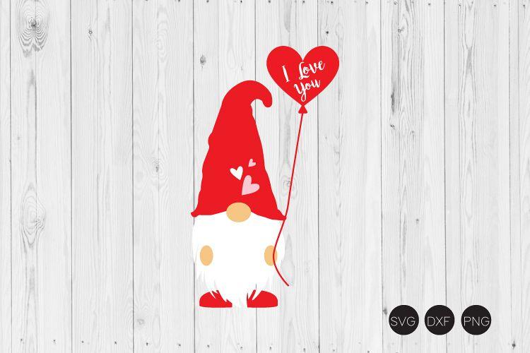Download I Love You SVG, Gnome SVG, Valentine Gnome SVG