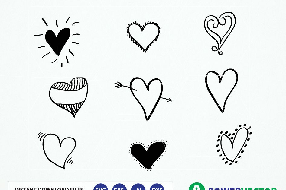 Download Hand Drawn Hearts. Hearts Svg Cut Files | Design Bundles