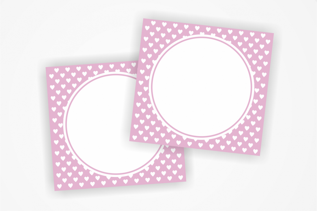 Printable Pink Tags With Small Hearts Label Heart Card Heart Tags Favor Tags Blank Cards