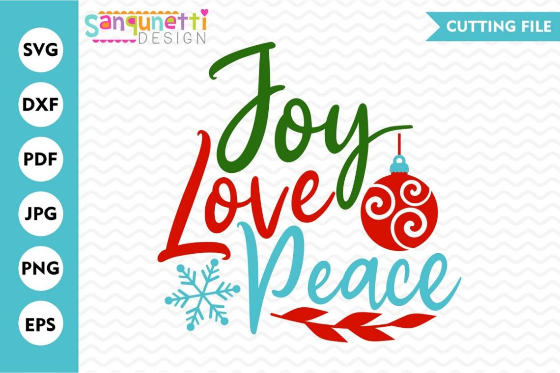 Download Joy Love Peace SVG , Christmas cutting file
