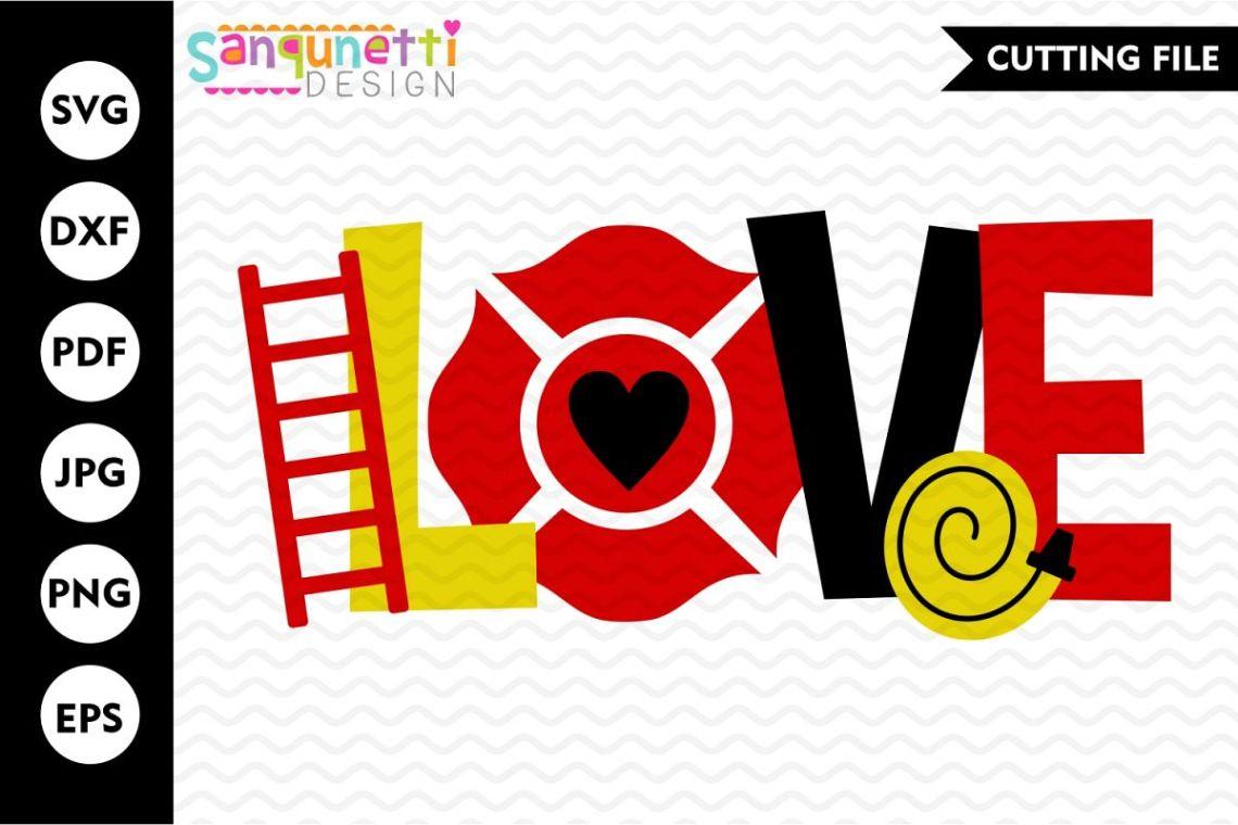 Download Love firefighter SVG file, fireman svg
