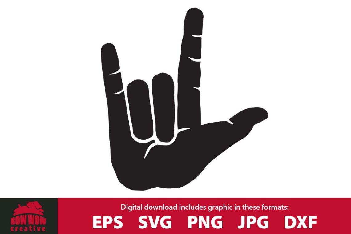 Download I Love You Hand Sign - SVG, EPS, JPG, PNG, DXF files
