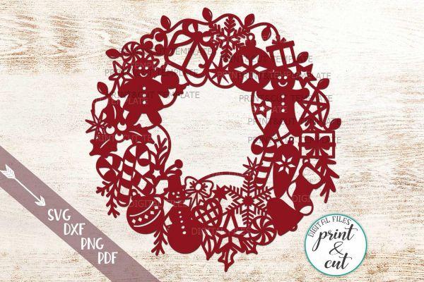 wreath template pdf # 5
