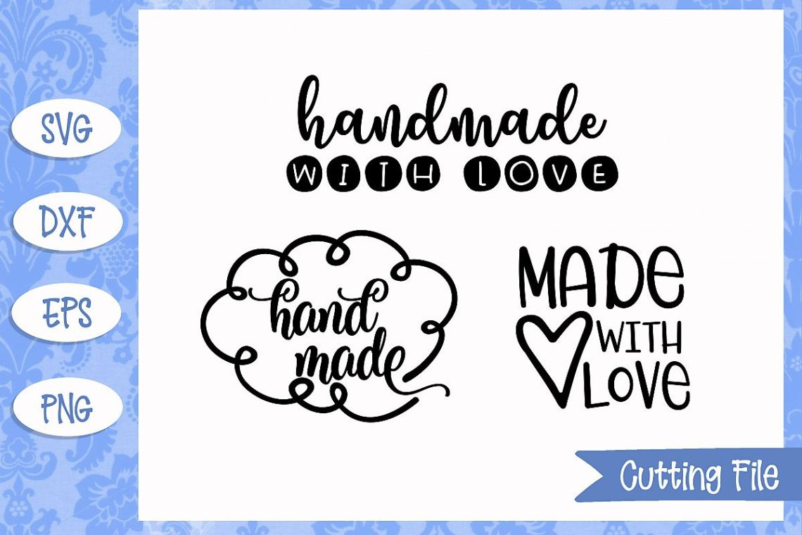 Handmade with love SVG Files