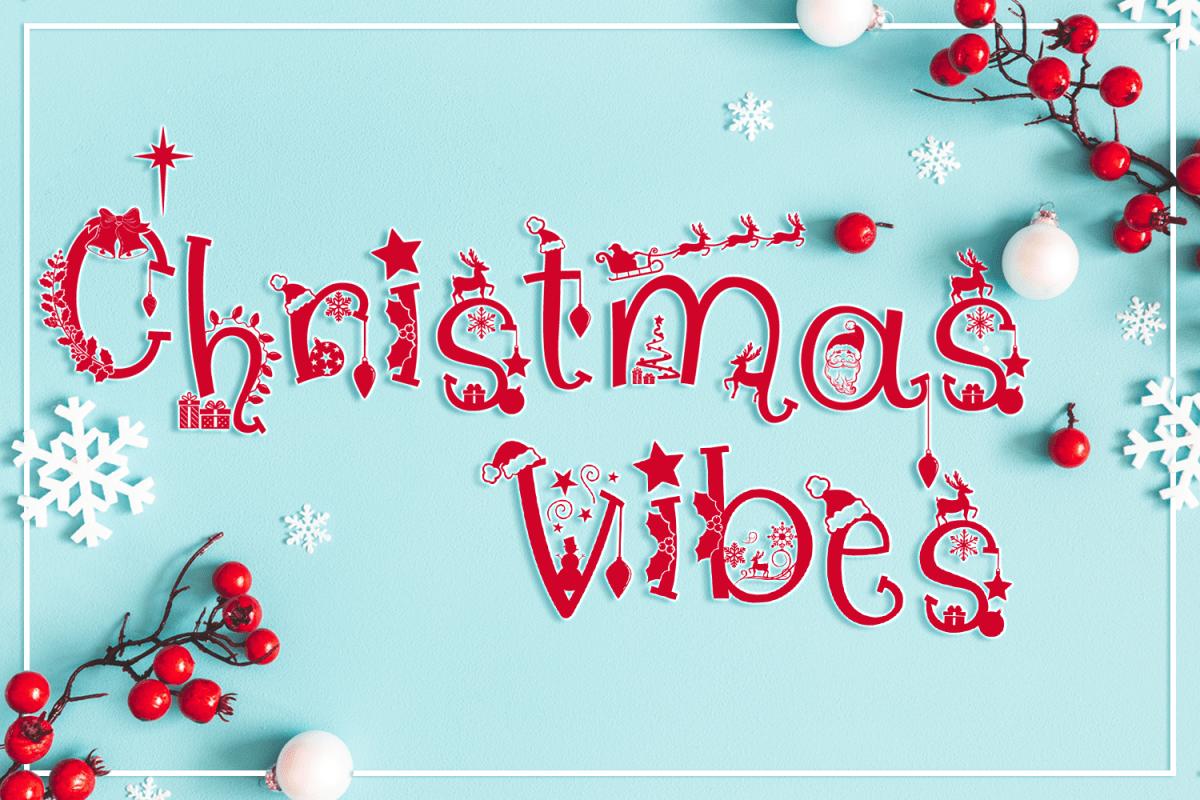 Christmas Vibes | A Whimsical Christmas Font example image 1