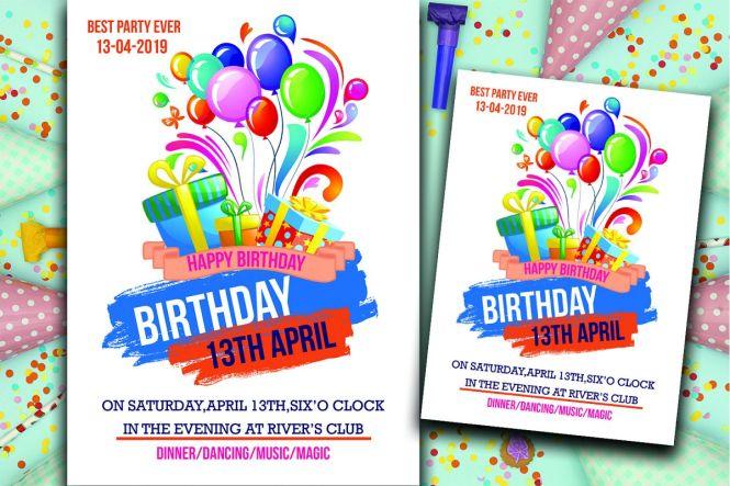 Birthday Invitation Card 319785
