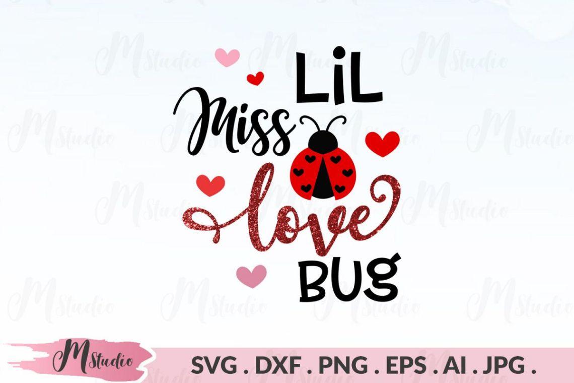 Download Lil Miss Love Bug svg.
