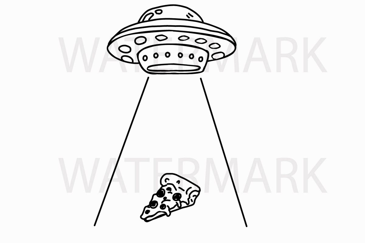 Alien Abduction Of A Piece Of Pizza
