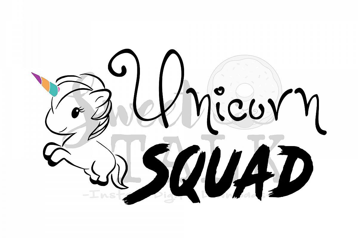 Unicorn Squad Svg Dxf Instant Digital Download